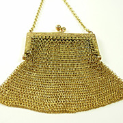 Baby Mesh 10Kt. Yellow Gold Chatelaine or  Dancing Purse c. 1900