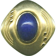 Special Art Nouveau Gold and Lapis Lazuli Stickpin c. 1890