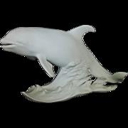 SALE Kaiser White Bisque Porcelain Killer Whale Statue Figurine Artist Signed W. German Limite