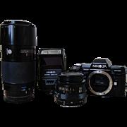 SALE Minolta 7000 Maxxum Camera w/ 2800 AF Flash & AF Lens 35-70 & AF Lens ...