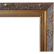 SALE LARGE Vintage Gold Picture Wood Frame w/ Rococo Swirls for Painting or Print Gilt