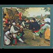 SALE LARGE Peter Bruegel Peasant Dance Print