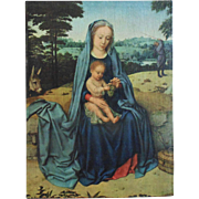 SALE Vintage Madonna & Baby Jesus Print Religious Virgin Mary