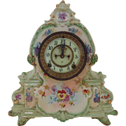 "SALE 19c Royal Bonn Ansonia ""La Manche"" Clock Shelf Mantle Antique Victorian Porcela"