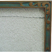"Art Deco Picture Frame Carved Wood Polychrome 15 1/4"" x 8 1/2"" Vintage ..."