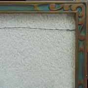 "Art Deco Picture Frame Carved Wood Polychrome 15 1/4"" x 8 1/2"" Vintage ..."