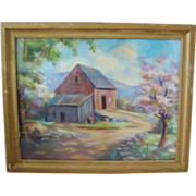 SALE Landscape Pastel Painting Signed by Listed Artist Raymond Wilson-Hammell
