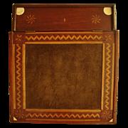 SOLD Antique Sailor's Writer's Lap Desk Fancy Inlaid Wood Escritoire  Marquetry Eastlake Aesth