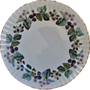 SALE Royal Worcester Platter Chop Plate Lavinia Gold Rimmed Round Fine China Blackberries