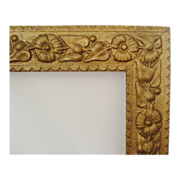 SALE Antique Picture Frame Wood & Gesso 19c Victorian Art Nouveau Aesthetic Eastlake ...