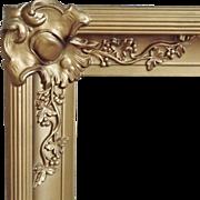 SALE Antique Picture Frame Wood & Gesso 19c Victorian Art Nouveau for Photograph Painting