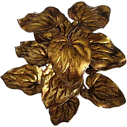 Italian hand wrought gilt centerpiece leaves