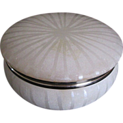 Old Italian fully carved sunburst alabaster round box
