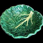 Old Majolica cabbage leaf bowl