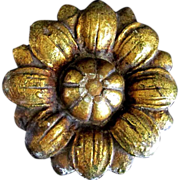 SOLD Antique architectural hand carved gilt Rosette