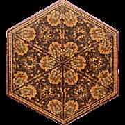 19 Century English treenware micro mosaic box