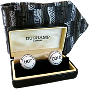 Unique novelty Duchamp of London Men's cufflink set & tie