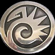 Old Hopi sterling brooch abstract design