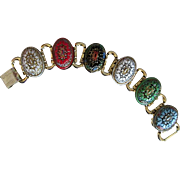 Bold art glass bracelet Moroccan style