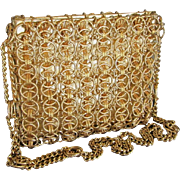 Walborg gold link purse chic high style