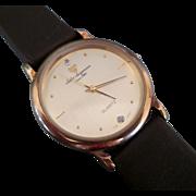 Vintage Jules Jurgensen Men's gold face watch