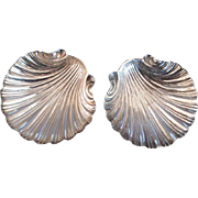 Pair sterling Seashell salts pretty on any table