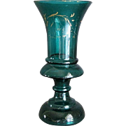 Early Bristol vase deep green color
