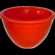 Original Fiesta Ware Red Orange Mixing Bowl 1936-1942