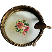 1930's Footed Petit Point Ladies Astray Made in Austria