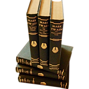 Mark Twain 6 Volume set Authorized Edition Collier & Sons Hardcover