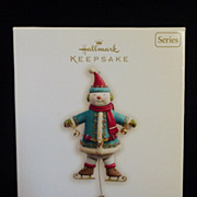 Snowman Yuletide Treasures 2008 Hallmark Keepsake Christmas Ornament
