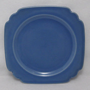Riviera Homer Laughlin Blue Mauve Blue Dessert Pie Plate