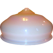 Large Iridescent L.C.T. Tiffany Favrile Glass Ceiling Dome Light Shade
