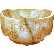 Carved Stone Bowl w/Lions & Garland Showing Roman Archaeological Influence