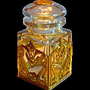 Signed Baccarat Large Art Nouveau Jar w/Art Nouveau Mounts