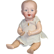 "Precious Antique 8"" German Bisque Baby Doll!"