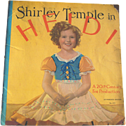 "1937 Shirley Temple ""Heidi"" Movie Saalfield Book"