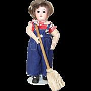 Darling 1940s Vintage Doll Mop!  Fits Bleuette!
