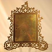 Brass-Bronze Fretwork Ornate Frame c.1870-1875