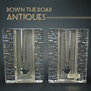 Signed Walther Kristallglas Retro Bud Vases