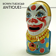 Chein Tin Clown Mechanical Bank