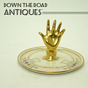 Austrian Hand Painted Porcelain Ring Holder - Arts & Crafts
