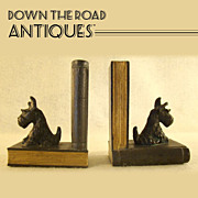 Ronson Scottie Dog Book Ends - 1920's