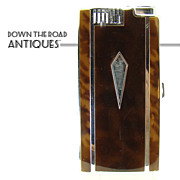 Early Ronson Pal Enameled Tortoiseshell Cigarette Holder and Lighter  Combination