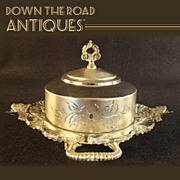 Silver Plated Victorian Butter or Cheese Keeper - 1900's