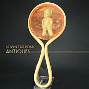 Celluloid Figural Baby Rattle - 1920's