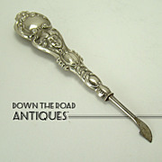 Sterling Handle Manicure Implement with Repoussé Victorian  Woman's  Head - 1910