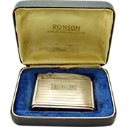 Sterling Ronson Adonis Pocket Lighter - Near Mint in Box