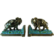 Large Ronson Elephant Bookends