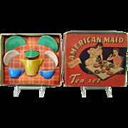 Akro Agate American Maid Tea Set - Mint in Box